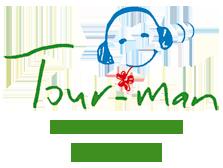 Tour man logo